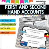 Australian events-Literacy analysis First and Second Hand