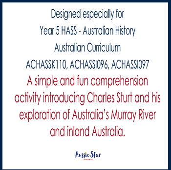 Australian Explorers – Charles Sturt – Biography Comprehension