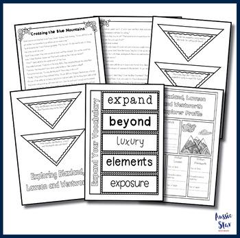 Australian Explorers - Blaxland, Lawson and Wentworth Comprehension Activities