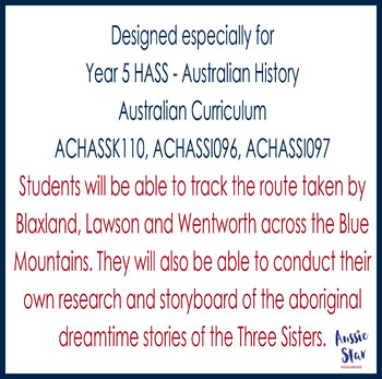 Australian Explorers - Blaxland, Lawson and Wentworth - Map and Dreamtime Story