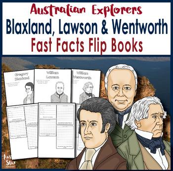 Australian Explorers - Blaxland, Lawson and Wentworth - Fast Facts Flip Book