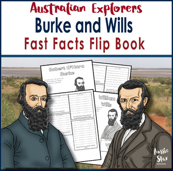 Australian Explorers - Burke and Wills - Fast Facts Flip Book