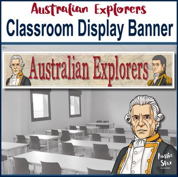 Australian Explorers Classroom Display Banner