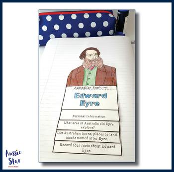 Australian Explorers - Edward Eyre - Fast Facts Flip Book
