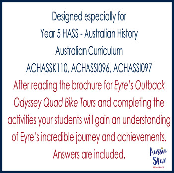 Australian Explorers - Edward John Eyre Comprehension Activities