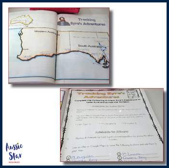Australian Explorers - Edward John Eyre Mapping Activity