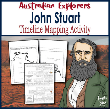 Australian Explorers - John Stuart Timeline Mapping Activity