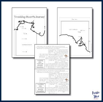 australian explorers john stuart timeline mapping activity tpt