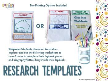 Australian Explorers Lapbook Series Mega Growing Bundle
