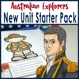 Australian Explorers Unit Introduction Activity Pack and Overview Plan