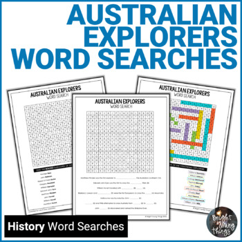 Australian Explorers Word Searches (ACHASSK110)