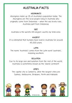 Australia Fact Cards