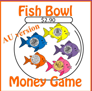 Australian Fish Bowl Counting Coins Money Game