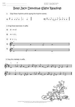 Australian Folk Songs With Worksheets set 1
