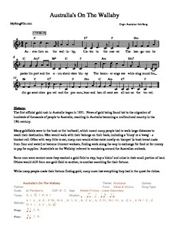 Australian Folk Songs With Worksheets set 1