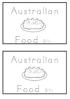Australian Words Food Tracing Name Book K-1 For Kids To Ma