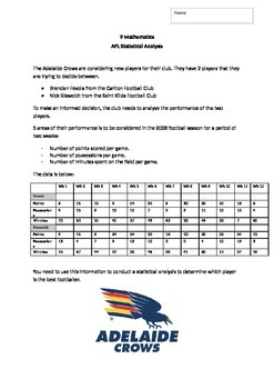 Australian Football Statistics Assignment