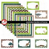 Australian Frames & Labels Clipart by Poppydreamz