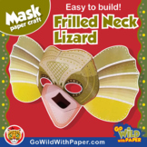 Australian Frilled-Neck Lizard Mask | Printable Craft Activity