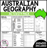 Australian Geography - Learning Activity Pack