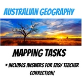 Australian Geography Mapping Task