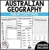 Australian Geography - Mini Fun Activity Pack