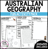 Australian Geography - Mini Fun Activity Pack