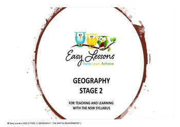Australian Geography - NSW Syllabus - The Earth's Environment