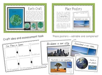 My Place in Space - Australian Geography Unit with 6 Lessons and Resources
