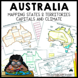 Australia Geography Mapping Activity States Territories and Capitals