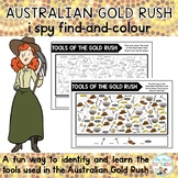 Australian Gold Rush I Spy Find-and-Colour
