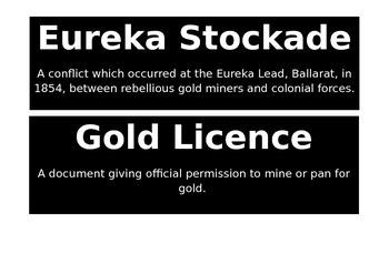 Australian Gold Rush Word Wall