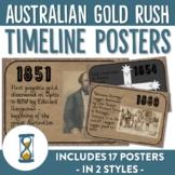 Australian Goldrush Timeline Posters