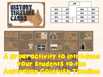 Australian Goldrush Timeline Posters and Student Activities Bundle