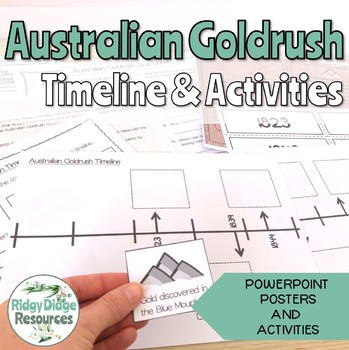 Australian Goldrush Timeline Posters and Student Activitie