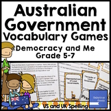 Australian Government Basics Vocabulary Games