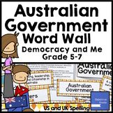 Australian Government Basics Word Wall