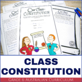 Australian Government | Class Constitution Activity and Poster