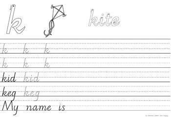 Australian Handwriting Practice Book 1 Victorian Modern Cursive