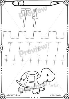 handwriting practice worksheets australian school fonts by fairy poppins. Black Bedroom Furniture Sets. Home Design Ideas