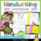 Handwriting Practice Worksheets {Australian School Fonts}