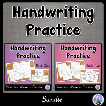 Australian Handwriting Practice Victorian Modern Cursive Bundle