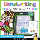 Handwriting Practice- Write & Wipe {Australian School Fonts}