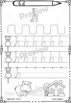 handwriting worksheets australian school fonts by fairy poppins. Black Bedroom Furniture Sets. Home Design Ideas