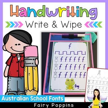 Australian Handwriting Write & Wipe Mats