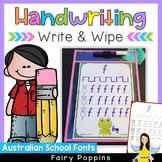 Handwriting Write & Wipe Mats {Australian School Fonts}