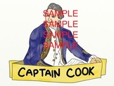 Australian History Clipart 2 Pack - HMS Endeavour and Capt