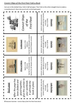 Australian History - Convict Ships of the First Fleet Fold