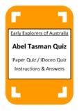 Abel Tasman Quiz - iDoceo Grade Scanner - Early Explorers of Australia