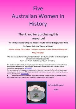 Australian History - Famous Women